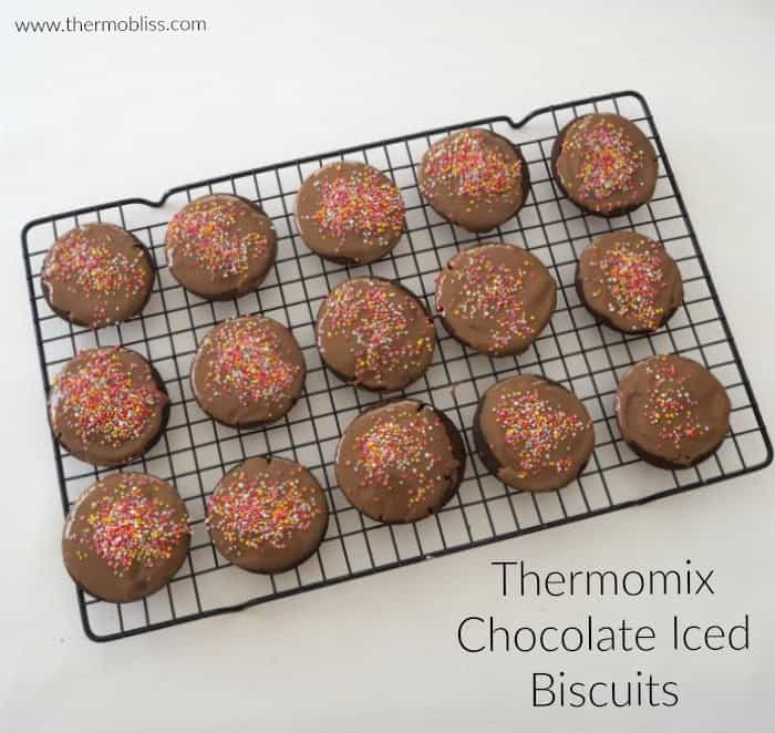 Thermomix Chocolate Iced Biscuits