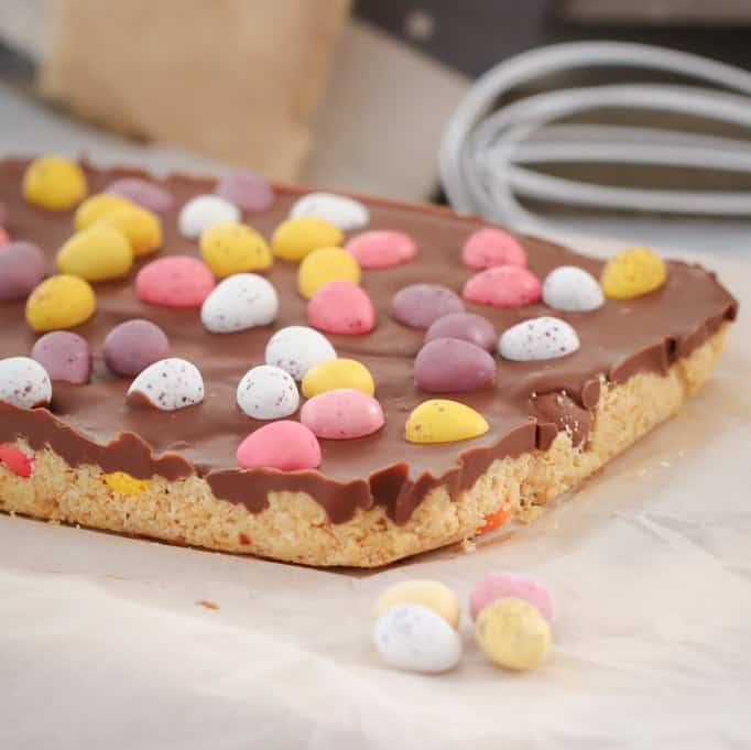 No Bake Easter Egg Slice