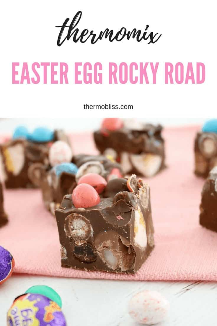 A quick and easy Thermomix Easter Egg Rocky Road made with all your favourite Easter chocolates!!