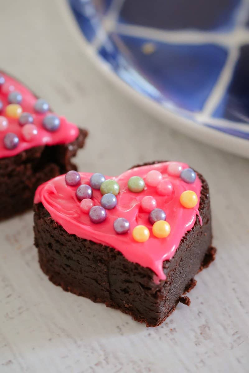 Our Thermomix Love Heart Brownies are dense, moist and super cute!! They're the perfect party food recipe!