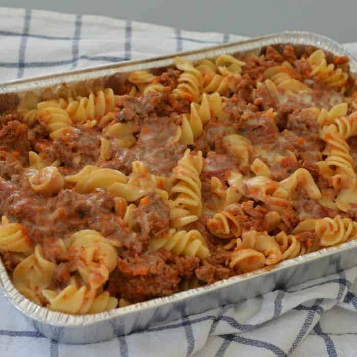 Thermomix Beef and Vegetable Pasta Bake
