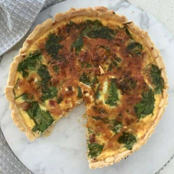 Thermomix Spinach Bacon and Cheese Quiche