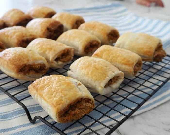 Veggie Packed Thermomix Vegetarian Sausage Rolls