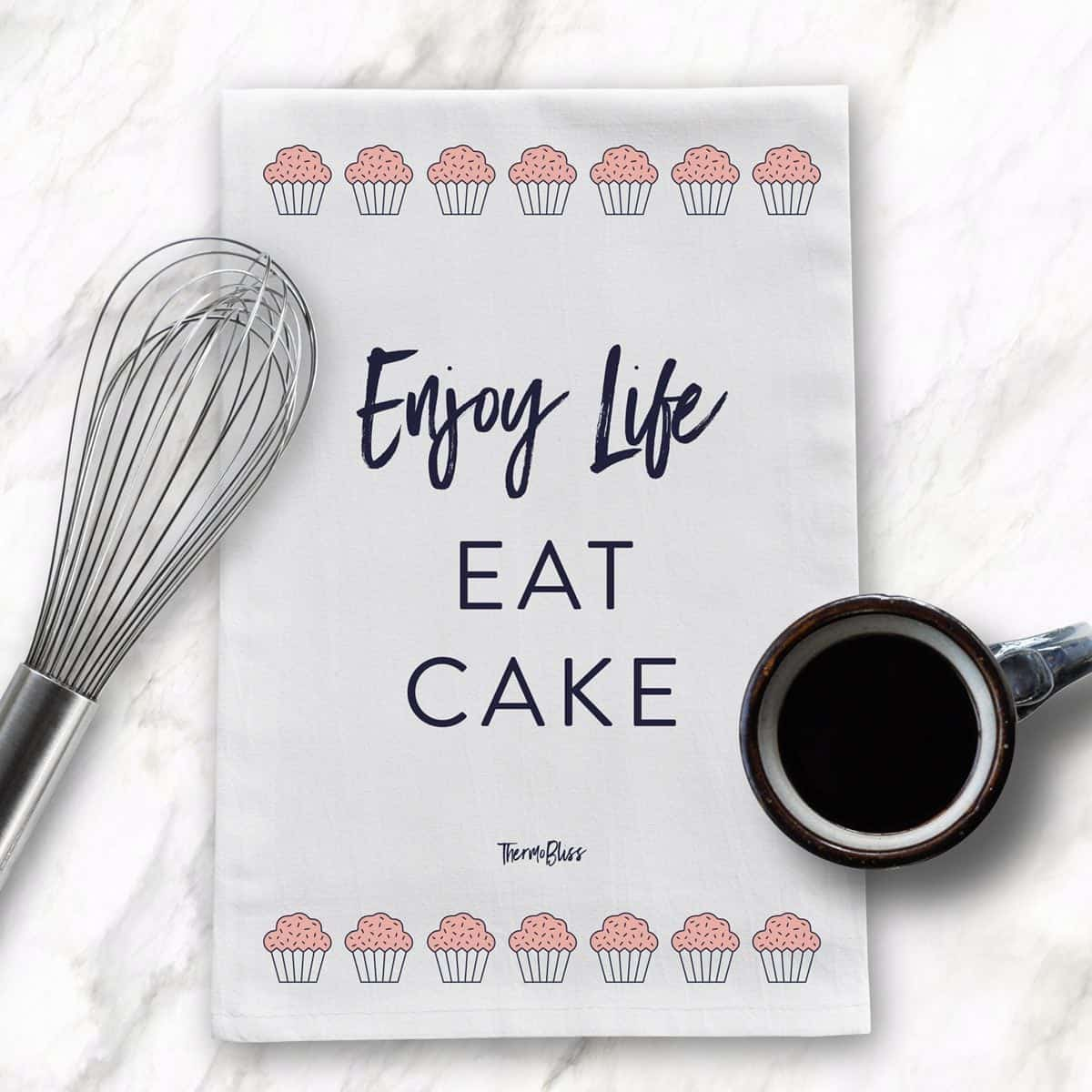 Our 'Enjoy Life. Eat Cake' tea towel is the perfect gift for yourself or a friend! Made from 100% premium cotton. RRP $19.95 (includes FREE SHIPPING).