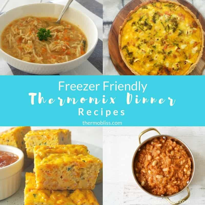 The BEST reezer Friendly Thermomix Dinners and Meals Collection. All of these recipes are family friendly and include something for everyone.