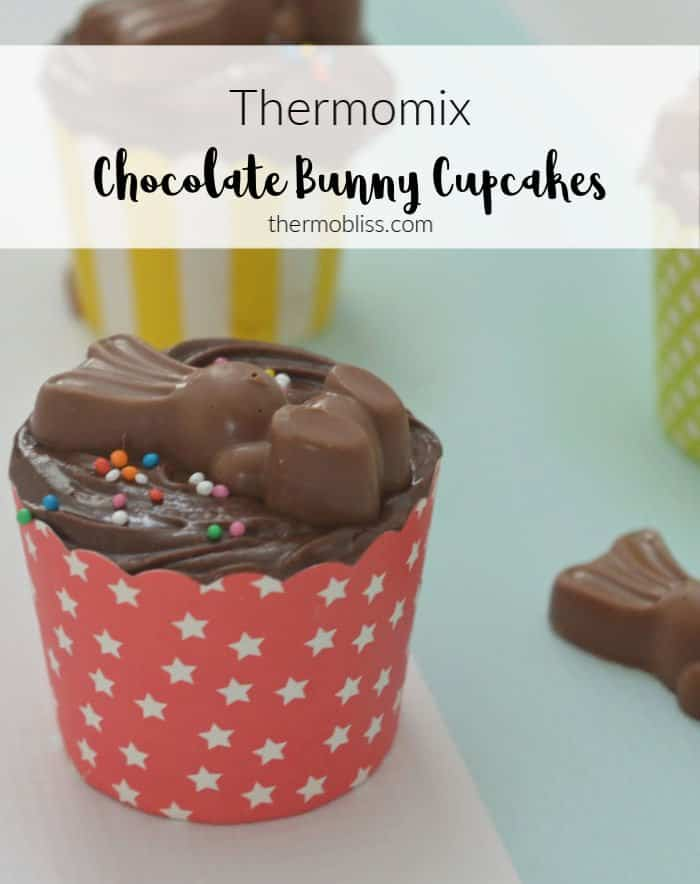 How to make Thermomix Chocolate Bunny Cupcakes. A cute Easter recipe perfect for the whole family.