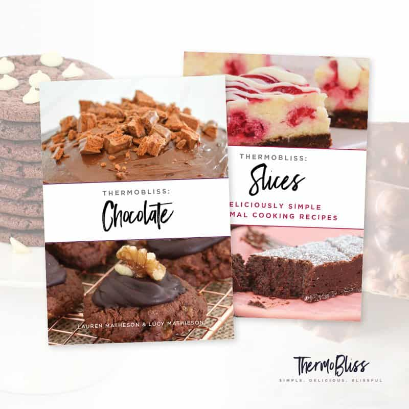 Our Thermomix Chocolate & Slices Bundle is perfect for all of the sweet lovers out there! Get our Thermomix Chocolate Cookbook & Thermomix Slices Cookbook for just $25.00.