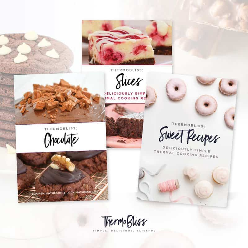 Our Thermomix Chocolate, Slices & Sweet Cookbook Bundle is the ultimate cookbook collection... get three of our best selling Thermomix cookbooks for just $35.00 (save $17.85).