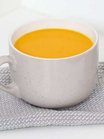 Our Thermomix Dairy-Free Creamy Pumpkin Soup is the perfect winter warmer soup! Healthy and delicious!