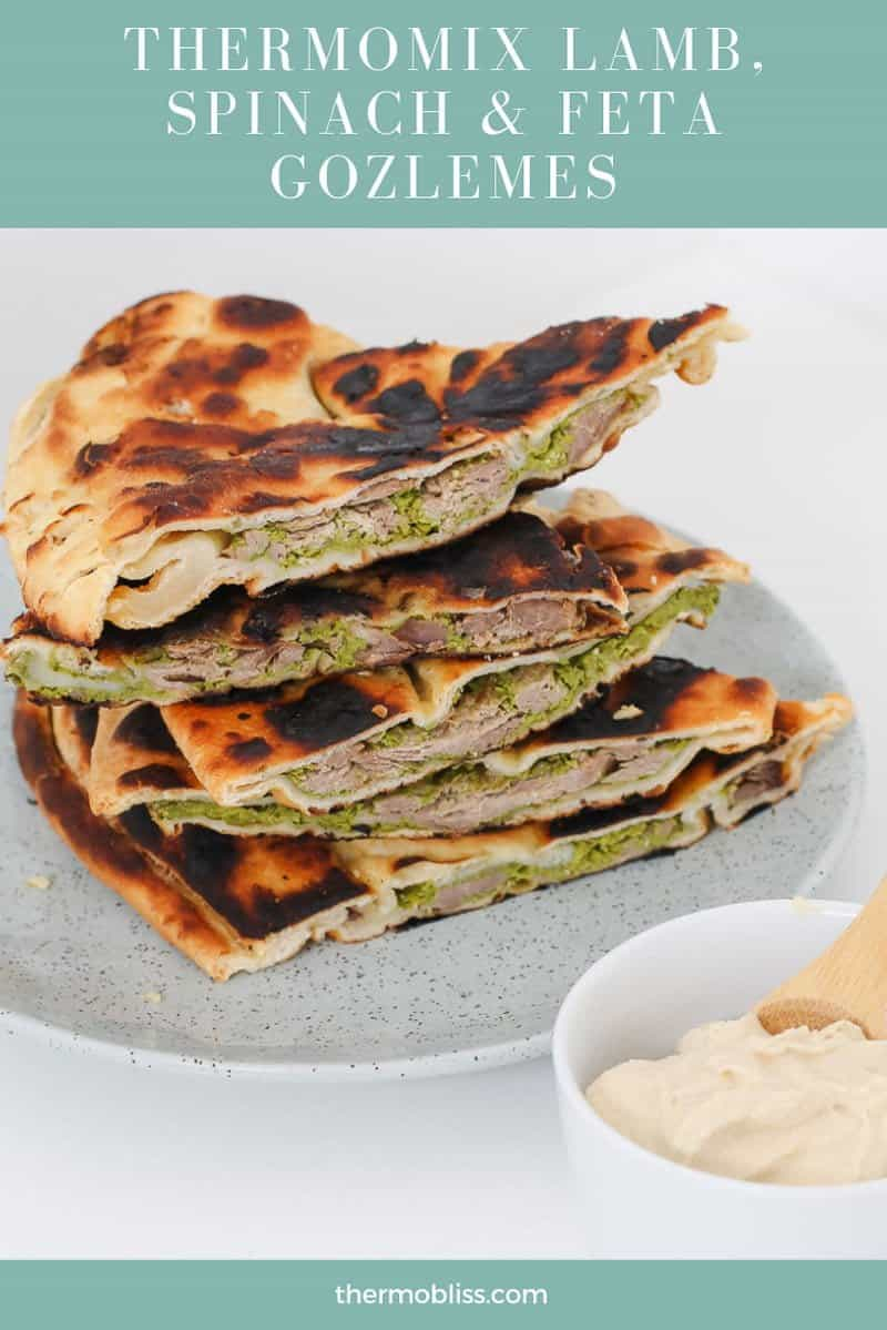 Our famous gozlemes are back and even better than ever... meet our Thermomix Lamb, Spinach & Feta Gozleme - the most delicious dinner (and a great way to use up leftover lamb!).