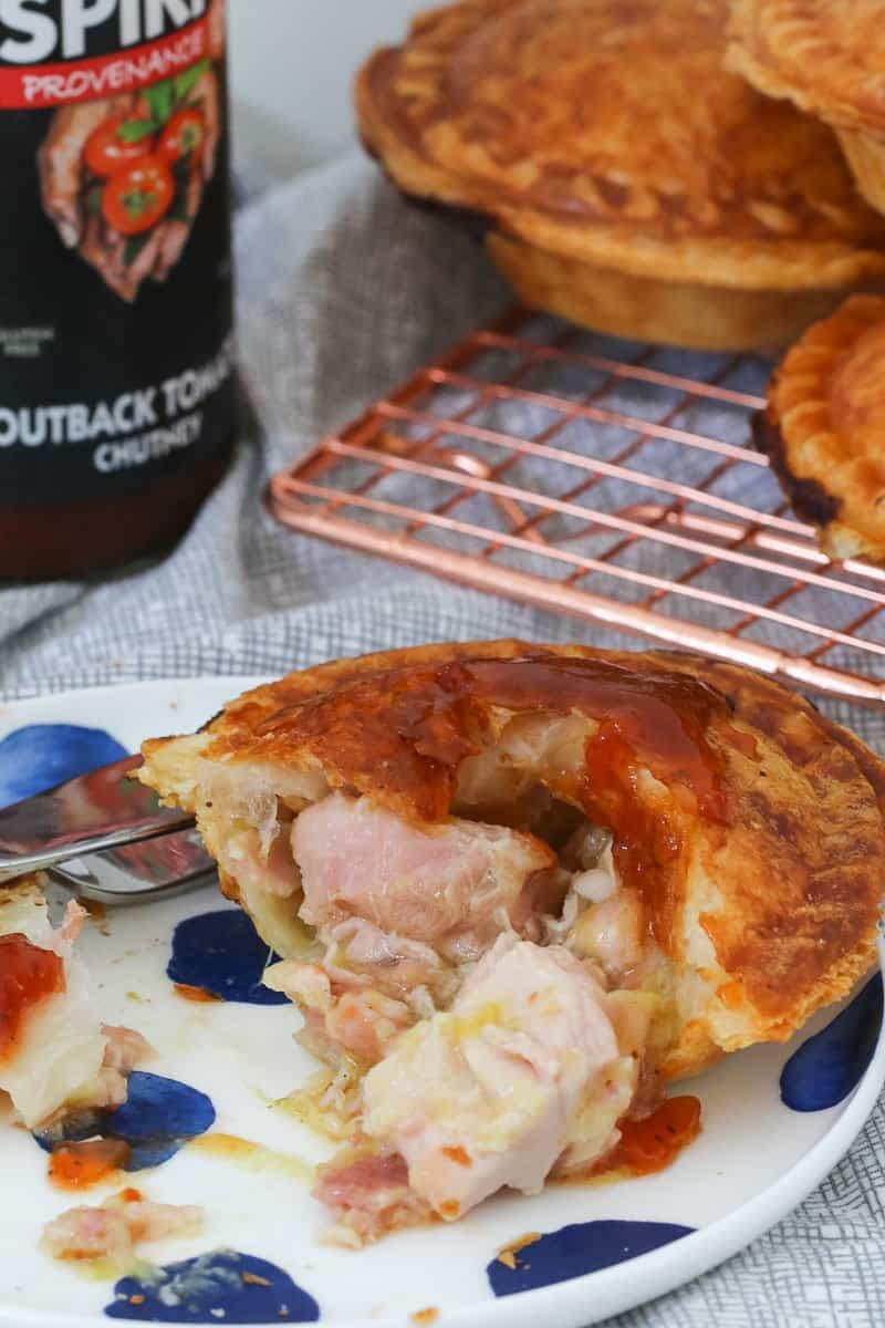Our famous Thermomix creamy chicken pies recipe with leek and bacon can now be made in the pie maker! The perfect snack or weeknight dinner.