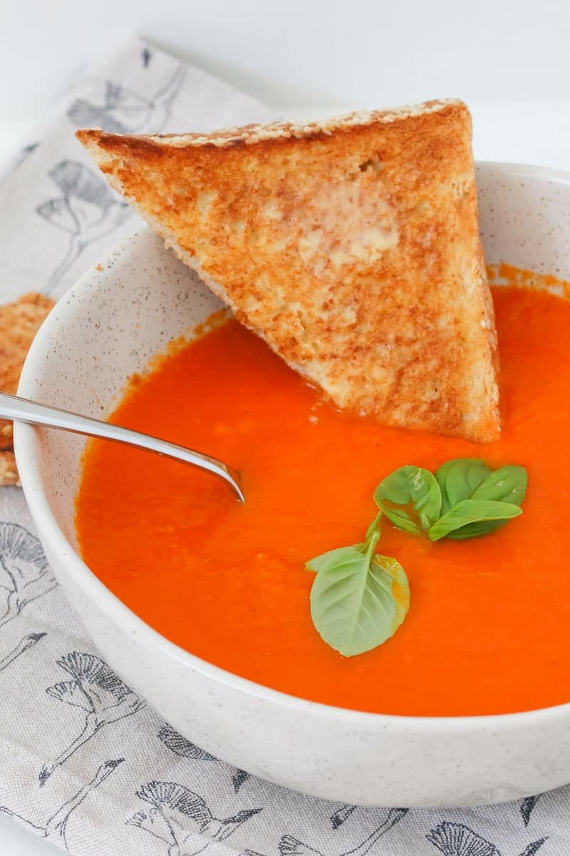 A deliciously healthy Thermomix Tomato Soup recipe based on the original Jamie Oliver recipe... but converted to the Thermomix!