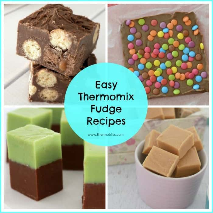 A collage of photos of different fudges - Easy Thermomix Fudge Recipes