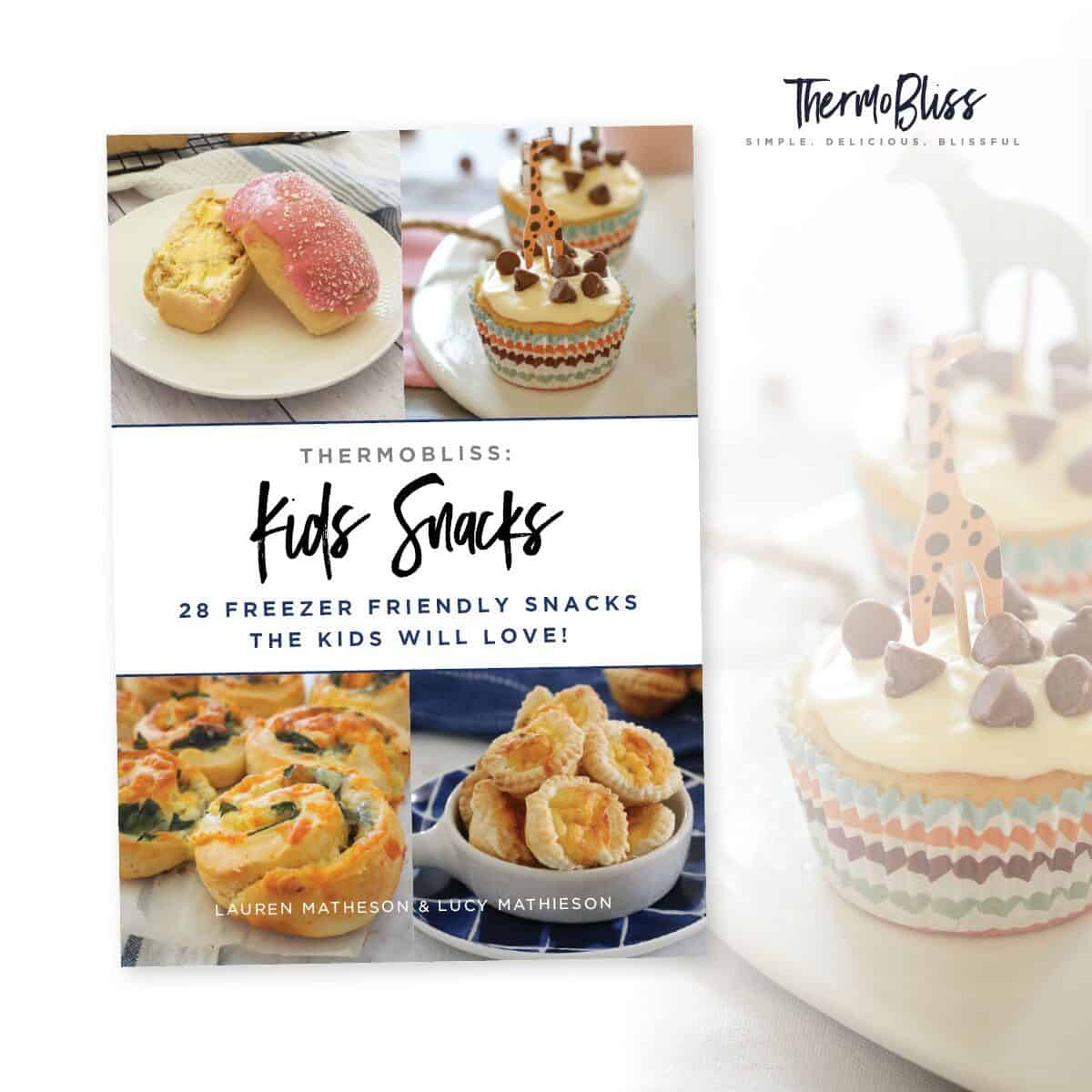 A ThermoBliss recipe book 'Kids Snacks'