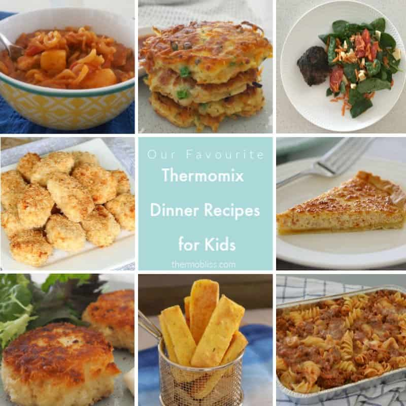 The cover of a recipe book - Easy Thermomix Dinners for Kids