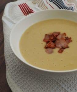 Thermomix Potato Bacon and Leek Soup