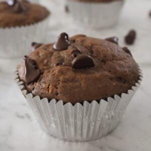 Thermomix Chocolate Chip Zucchini Muffins Recipe.