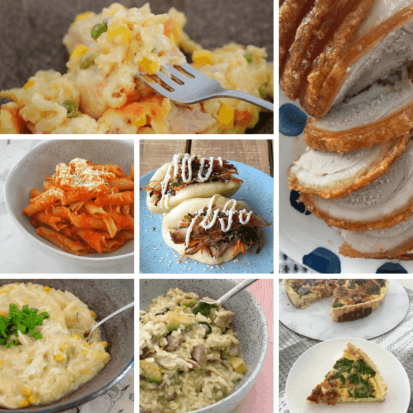 A collage of dinners that have been made in a Thermomix.