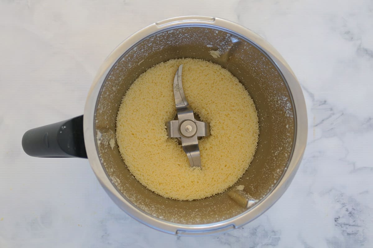 Grated parmesan in a Thermobliss bowl.