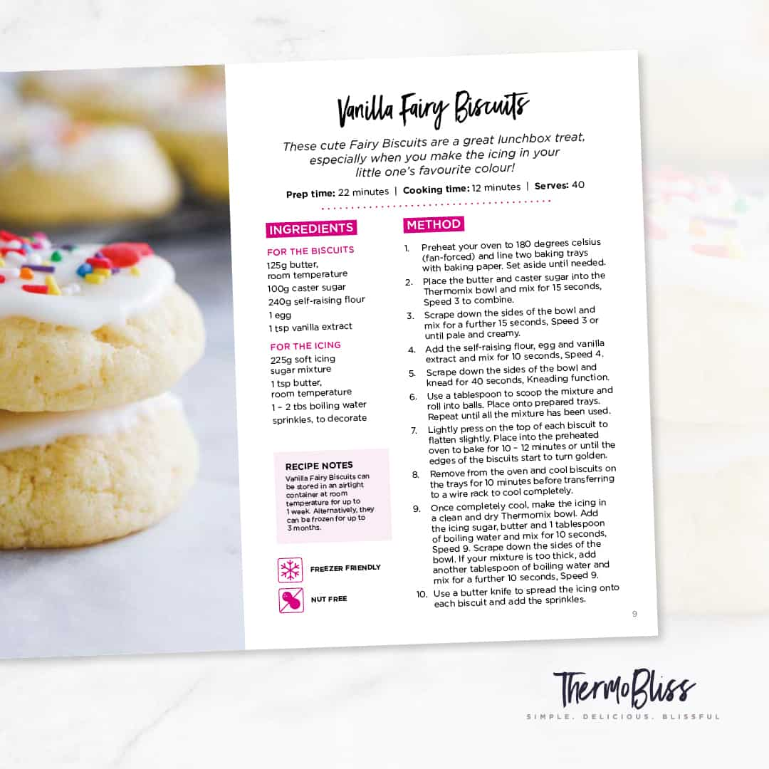 Fairy Biscuit Recipe from kids snacks volume 2