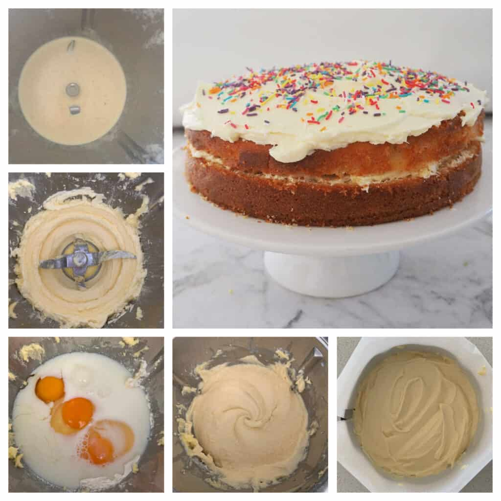 Butter Cake Step by Step