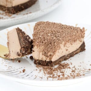 A piece of Toblerone Cheesecake made in a Thermomix.